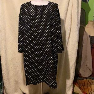 Polka dot black laundry dress